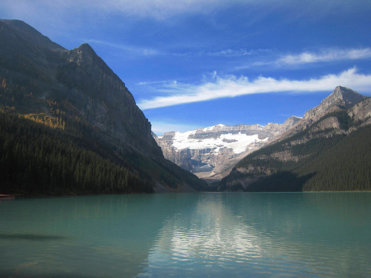 The standard view of Lake Louise.  Everyone takes this photo.