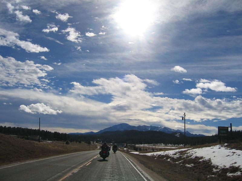 Pikes Peak ahead.
