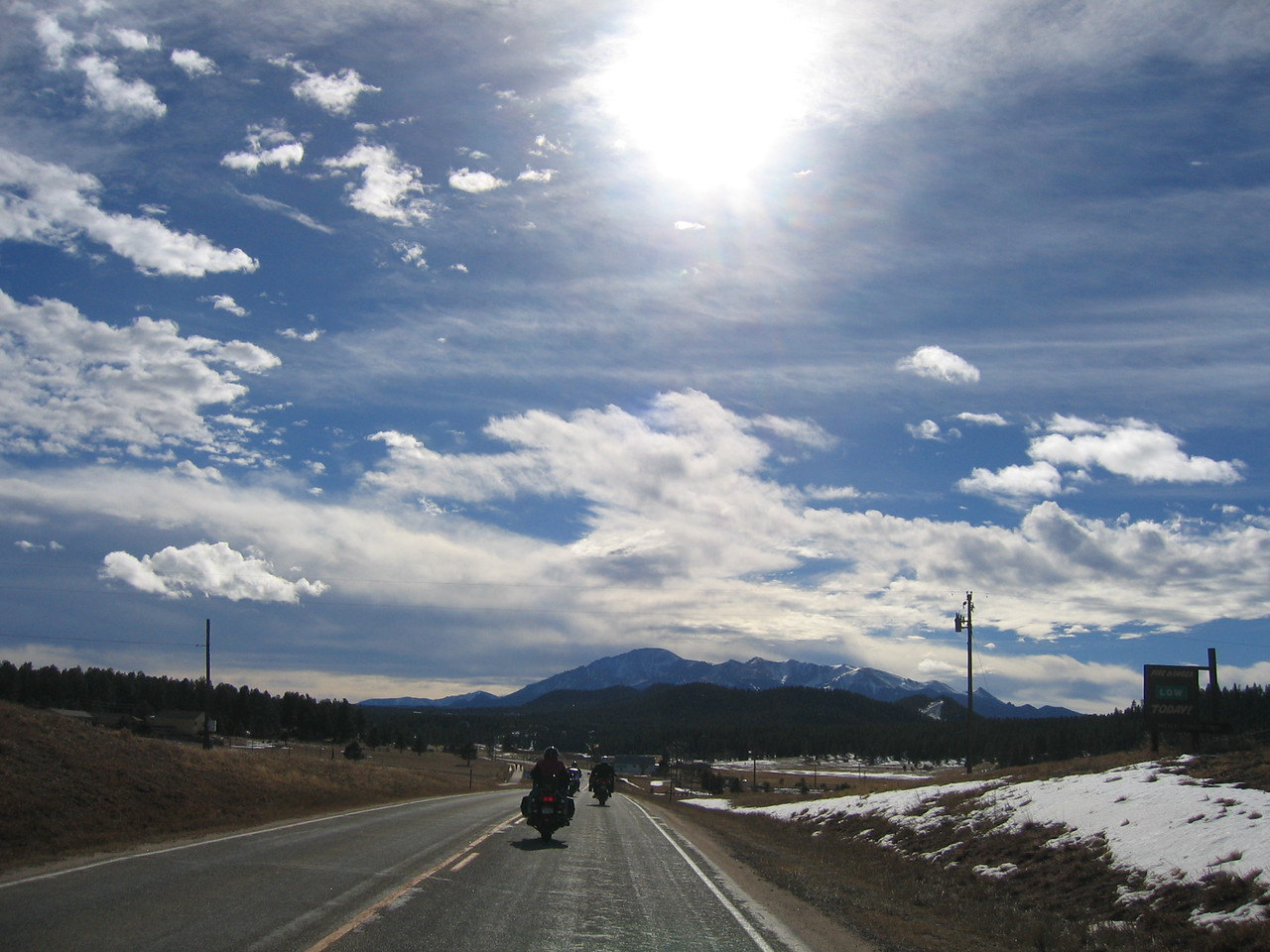 Pikes Peak ahead.