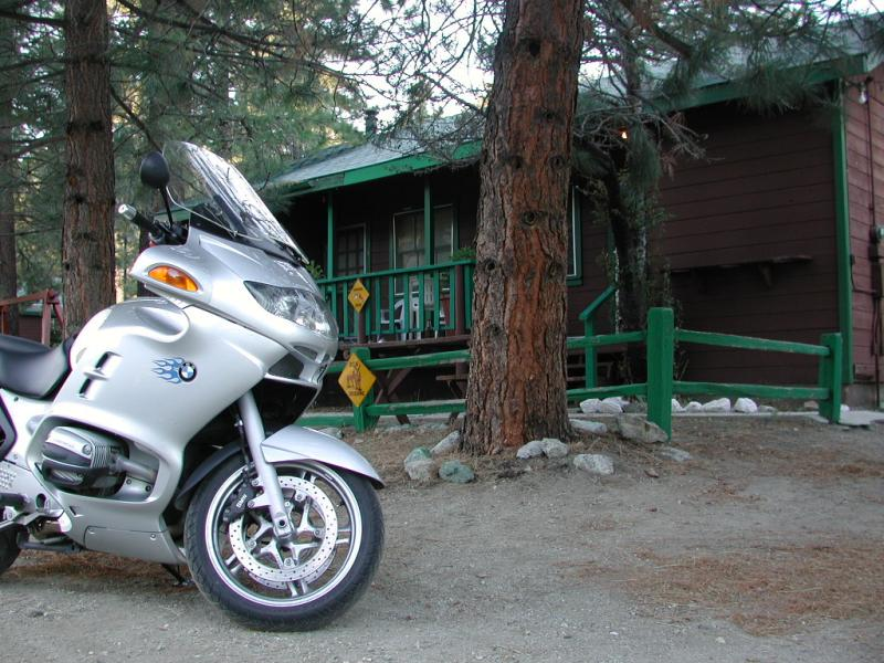 The mighty RT at rest in front of the cabin