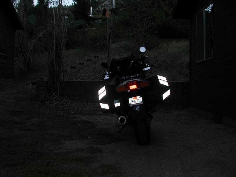 SOLAS reflective tape in the dark