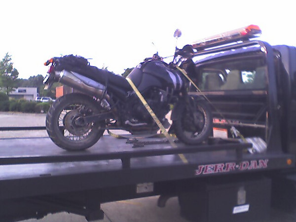 The wonded cat back in Arlington. Ended up having to replace the clutch and the shifter rod.