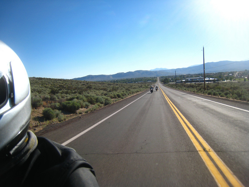 Chuck Wetzel, from Texas, is entered in the BMW MOA mileage context, and is trying to rack up as many miles as possible.  At his current pace, he'll have over 100,000 miles on his R-1200R ... in TWO years!  That's some miles.<br /> <br /> It's been almost two years since I rode over Sonora pass, so we plan a ride to go over Ebbets pass, have lunch in Arnold, and return via Sonora pass.  <br /> <br /> So off we go, headed south via Jack's Valley road.