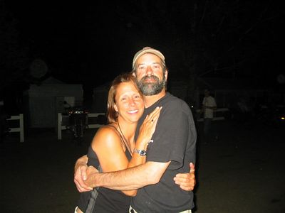 Liz and Jim Key share a warm moment.