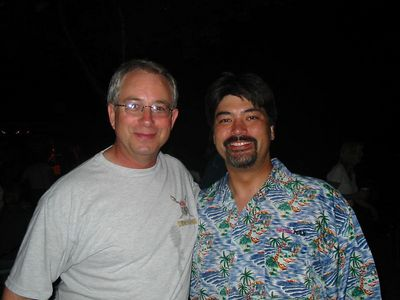 Bob Milner from Oklahoma and I pose for a snapshot.