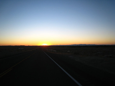 Heading east on Highway 50, I watch the sun rise on the horizon.  I'm heading across Nevada on Highway 50, then picking up I-70 in Utah, which will take me to Grand Junction, Colorado, where I will exit the interstate.