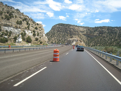 Interstates are slower than taking the two-lane blacktop.  Interstates are full of cars, law enforcement, and construction.  I always make better time on Highway 50 than on I-80, or in this case, I-70.
