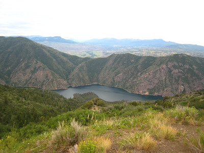 The Black Canyon of the Gunnison.  It is much more impressive on the south rim, further west of here.