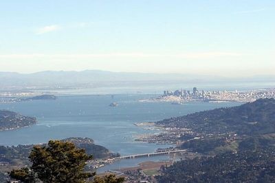 View of San Francisco from the tippy top of Mt. Tam.