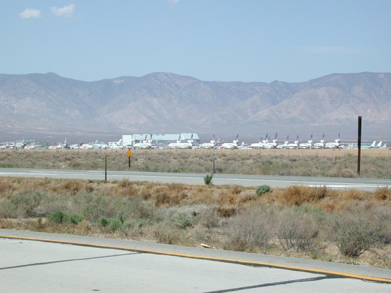 Jet graveyard near Mojave, CA