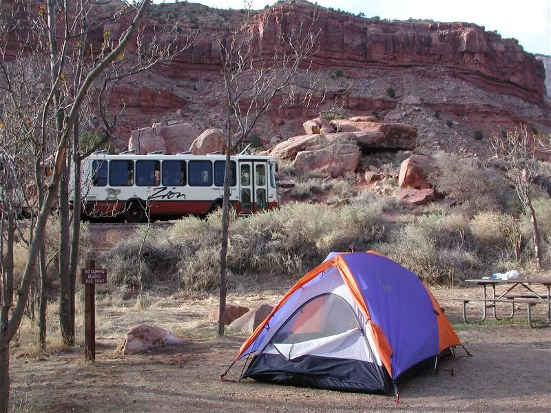 Shuttles run past our camp every 5 minutes