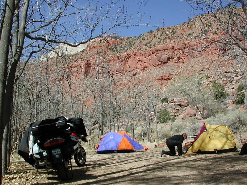 First campsite in Zion National Park, UT