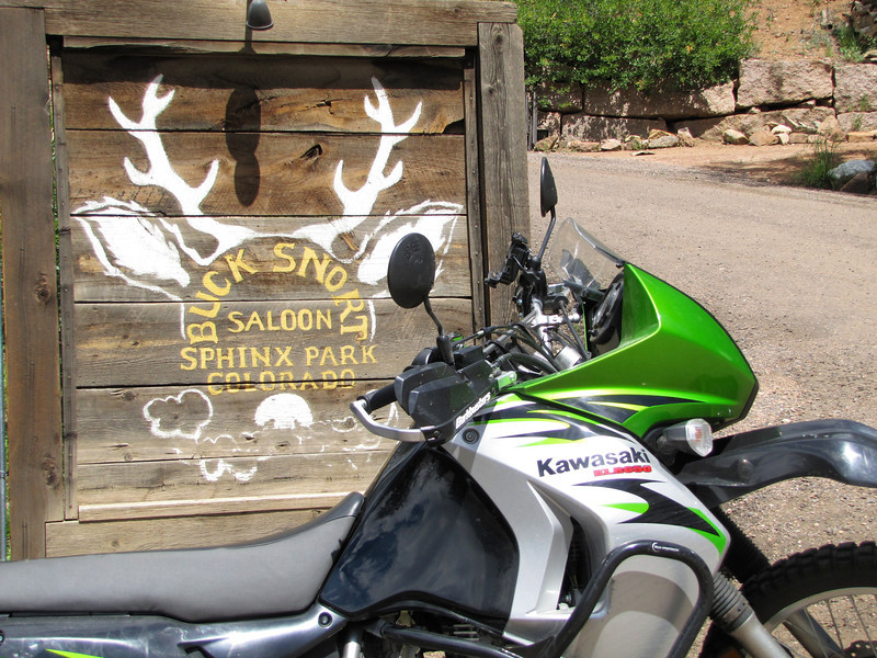 """The <a href=""""http://www.thebucksnortsaloon.com/"""">Buck Snort saloon</a> on Elk Creek Rd, above Pine, CO, off Pine Valley Rd/County Road 126."""