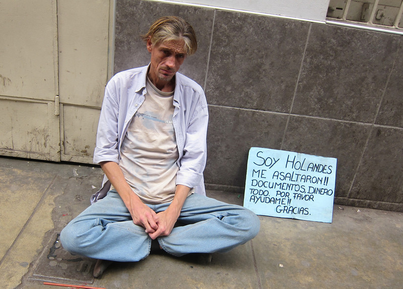 A gringo begging in Lima