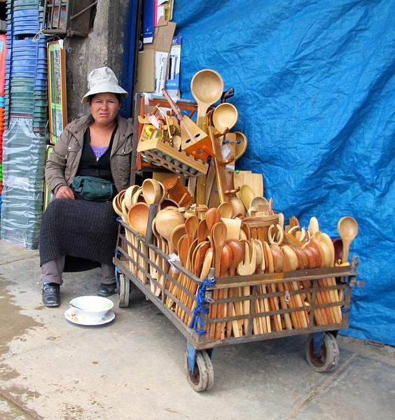 Huancayo, Peru street vendor