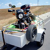 nice little trailer, borrowed from a friend