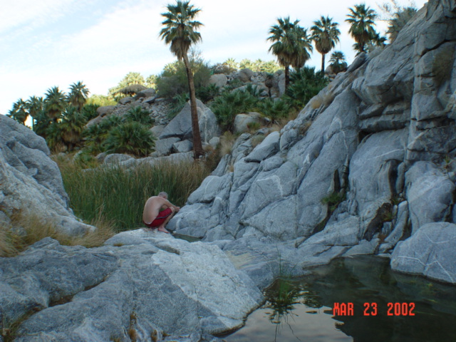 -Tom in cold water stream area of Canyon