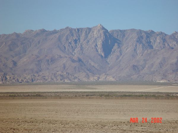 Looking towards Canyon from Dry lake