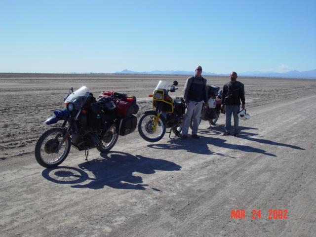 Tom and Luis crossing Laguna Salada