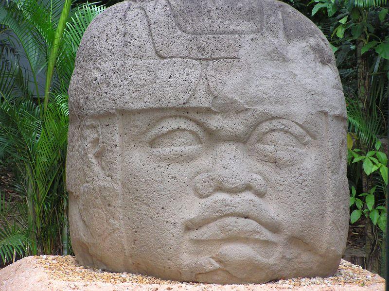 Olemec Head in Villahermosa, Tobasco