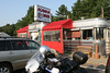 """The famous Agawam Diner - Located at the corner of US Route 1 and 133, Rowley, Massachusetts. This is a circa 1940's Fodero Dining Car. A classis stainless steel diner that is in pristine condition. Go early if you go, this place fills up fast. I got there at 6:45AM and it was at 90% capacity.  A gentleman by the name of Stu, a regular to the Agawam I assume since the waitress and cashier both knew his name, sat next to me and started the converstion with """"I used to have a BMW, a R100GS too.  I wish I never sold it.""""  I get stories like that a lot, I think I hang on to my 1150 for a while. At the Agawam, expect the typical diner grub. I had a """"toasted"""" egg, ham and cheese with a side of home fries. The pies look fantastic, maybe I'll go back for dinner tonight. Photos for your enjoyment..."""