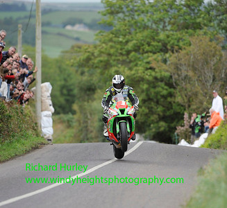 21-08-11, Michael Dunlop entertained the large crowds as he continues his winning streek at the new Munster 100 Road Racing Circuit at Timoleague. PHOTO: RICHARD HURLEY