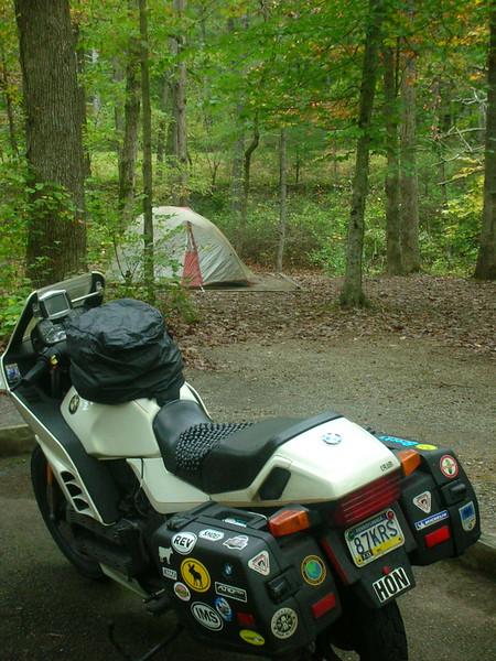 Otter Creek campsite.