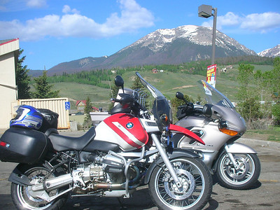 Gas stop in the sunshine west of Eisenhower Tunnel in Silverthorne.