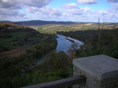 Overlook on PA6 at Wyalusing.