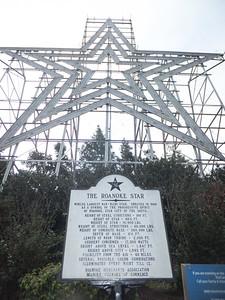 The Roanoke Star on Mill Mountain.