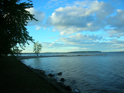 Lake Champlain from campsite.