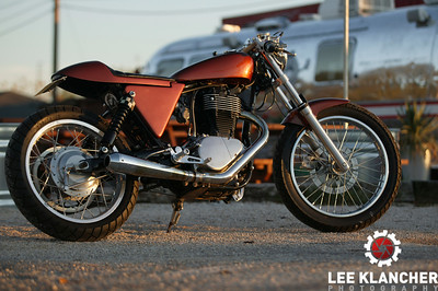 Robert Pandya's Suzuki Savage-based Ryca. Shot at The Odd Duck Trailer in Austin, Texas.