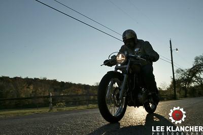 Robert Pandya's Suzuki Savage-based Ryca. Shot at Zilker Park and The Odd Duck Trailer in Austin, Texas.