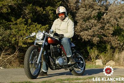 Robert Pandya's Suzuki Savage-based Ryca. Shot at Zilker Park in Austin, Texas.