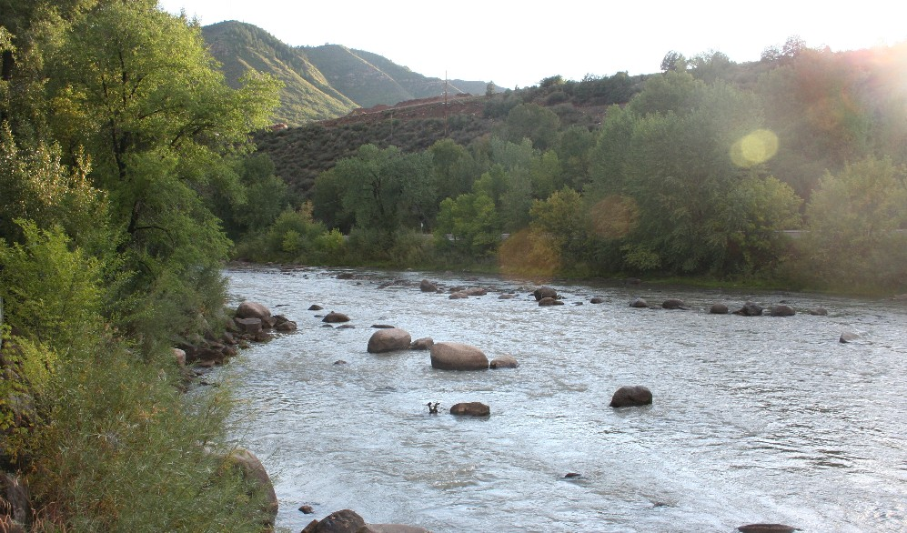 The Animas River flows right down the middle of Durango. It's a nice river.