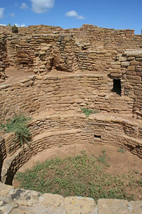 Dwellings in the Mesa Verde National Park.