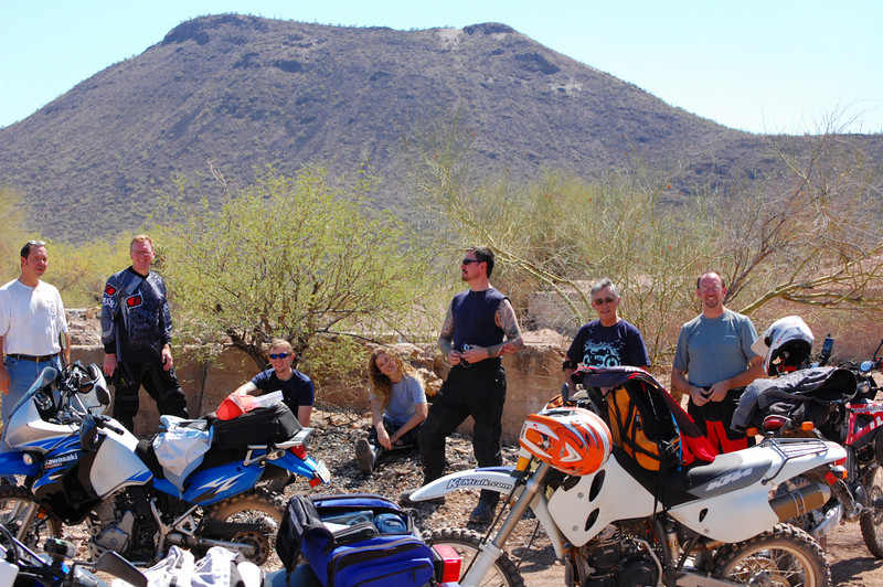 Taking a break at the SASCO ghost town ruins. <br /> <br /> These folks look pretty happy.