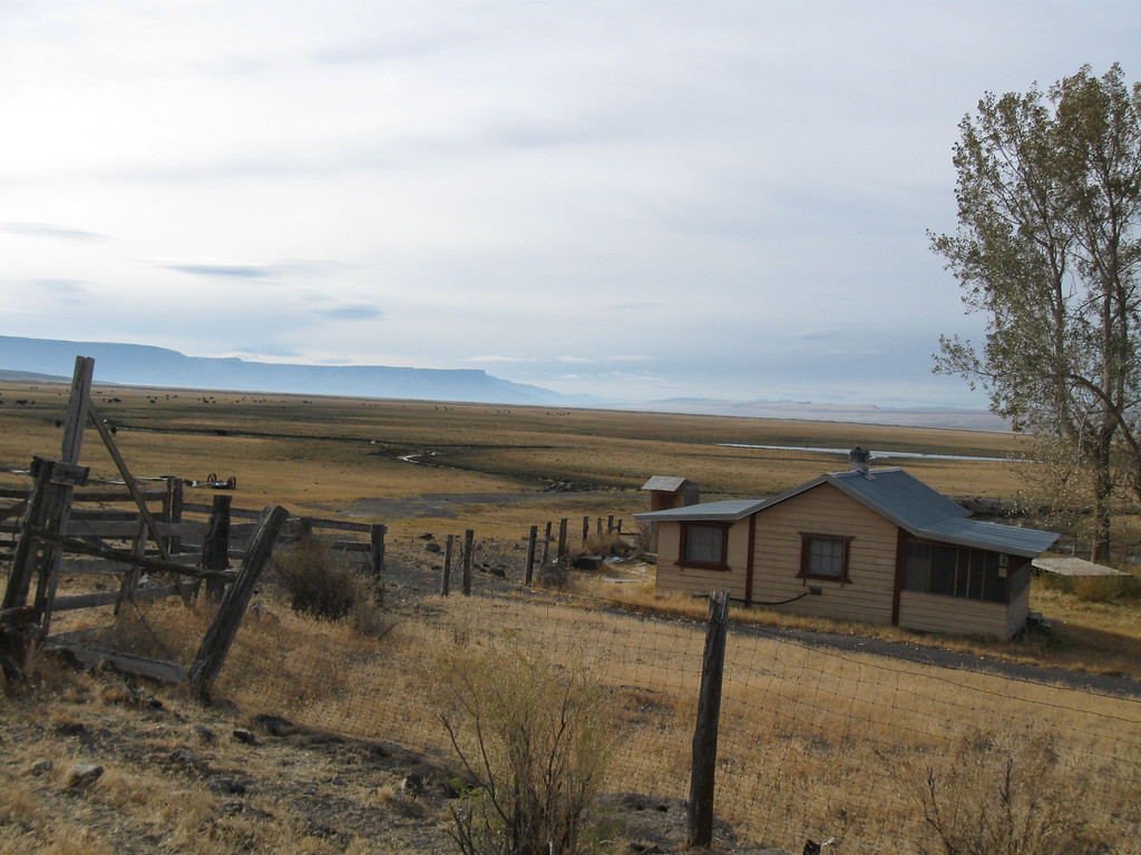 The small house on north end of Lake Abert