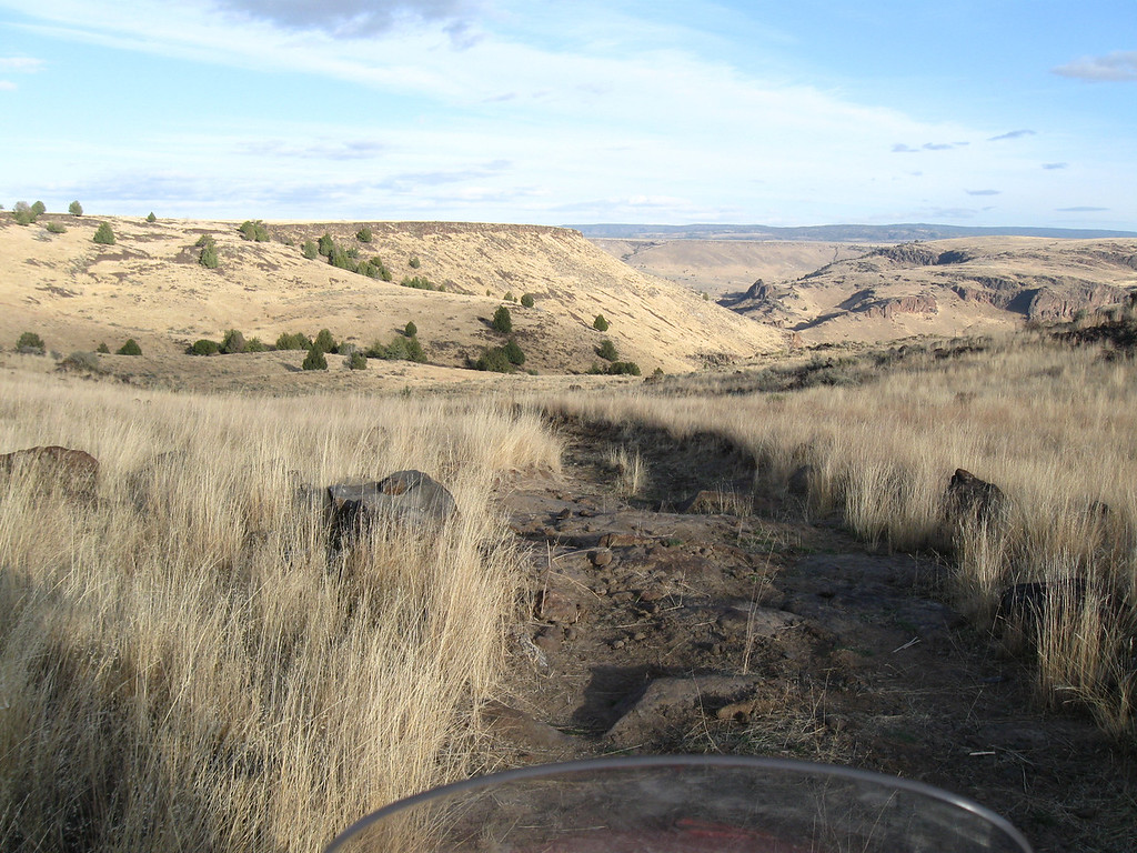 """Entrance to the """"road"""" down to the Owyhee River crossing near Three Forks where the hot spring creek is."""