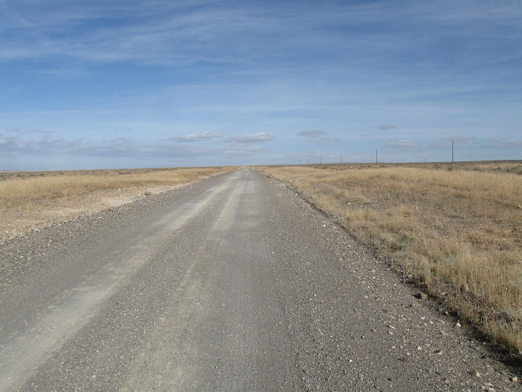 Looking east down Whitehorse Ranch Rd