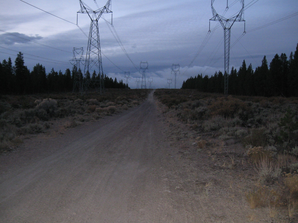 Powerlines near Road 23, ChinaHat riding area