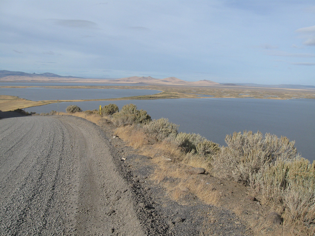 Looking west toward lakes in Warner Valley, North of Plush, on road into Hart Mtn Wildlife Refuge.