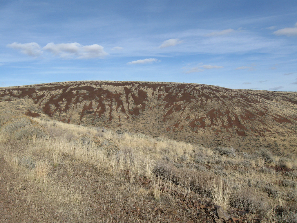 Looking at Jackson Creek Rd summit, a little over 6000ft.  The rocky striations look really cool to me.