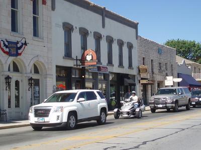 Father's Day Ride 2010: Granbury, TX town square