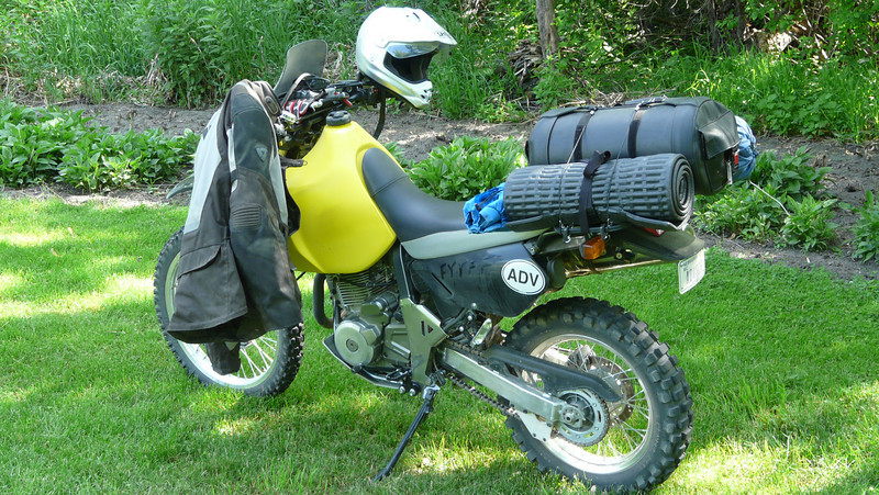 And my DR650....