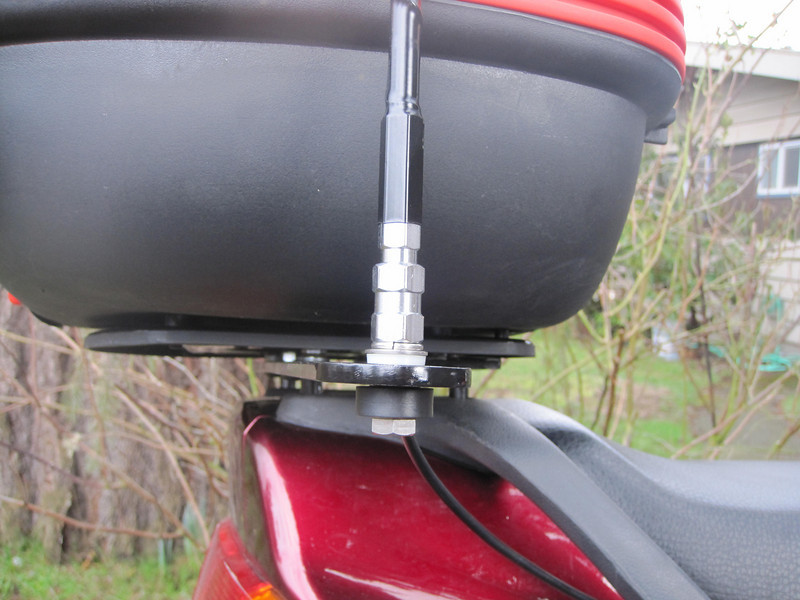 Antenna mount bolt close-up