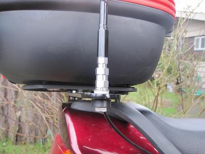 Antenna mount bolt close-up