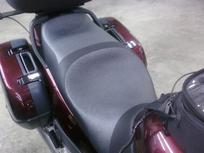 New custom seat from Rich's Custom Seats on 1/28/11.  It's a two tone grey and black.