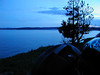 Yellowstone Lake after dark