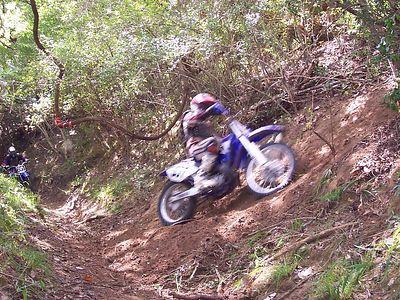 A sharp turn and a steep climb.